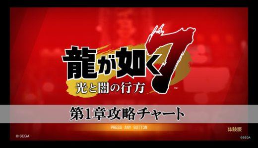 龍が如く7の第1章ストーリー攻略チャートまとめ!